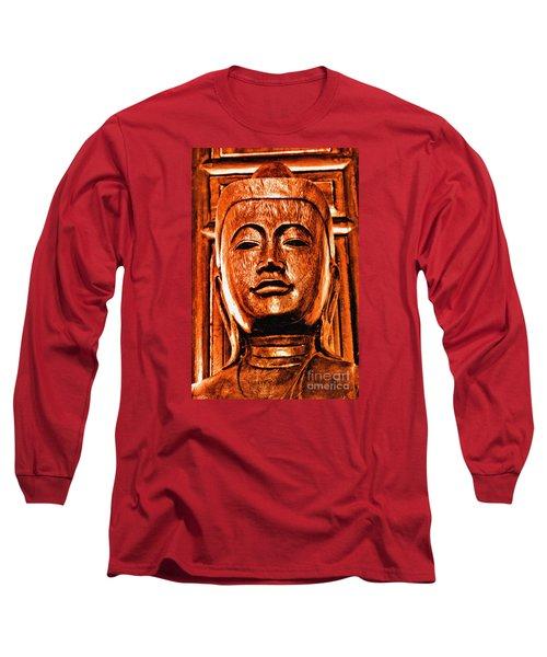 Head Of The Buddha Long Sleeve T-Shirt