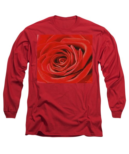 Heart Of A Red Rose Long Sleeve T-Shirt