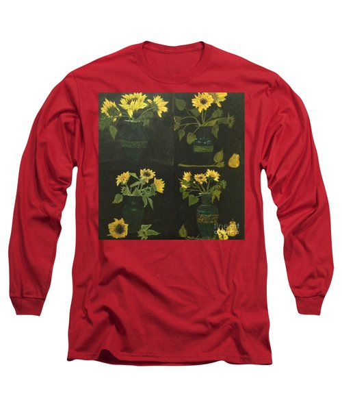 Long Sleeve T-Shirt featuring the painting Hirasol by Vanessa Palomino