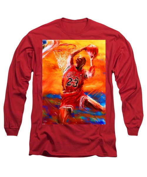 His Airness Long Sleeve T-Shirt by Lourry Legarde