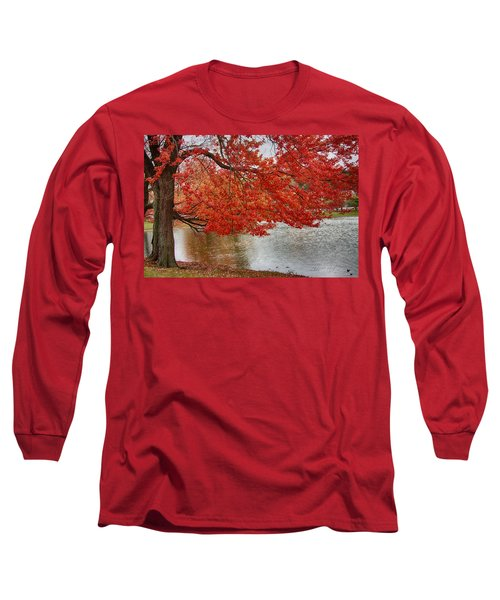 Long Sleeve T-Shirt featuring the photograph Holding Our Bright Red Joy by Jeff Folger