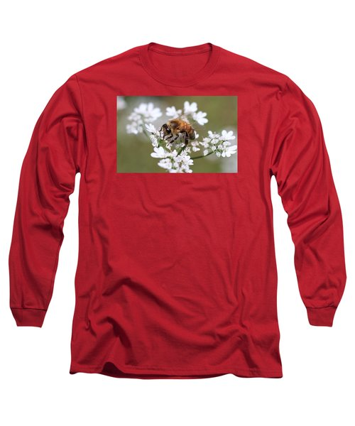 Honeybee On Cilantro Long Sleeve T-Shirt