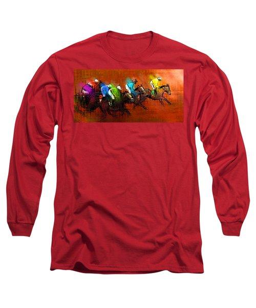 Horses Racing 01 Long Sleeve T-Shirt