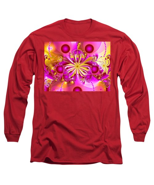 Hot Orchid Long Sleeve T-Shirt by Sylvia Thornton