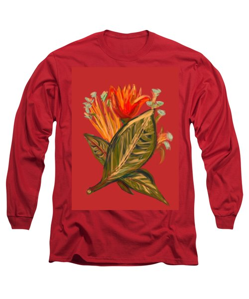 Long Sleeve T-Shirt featuring the digital art Hot Tulip R by Christine Fournier