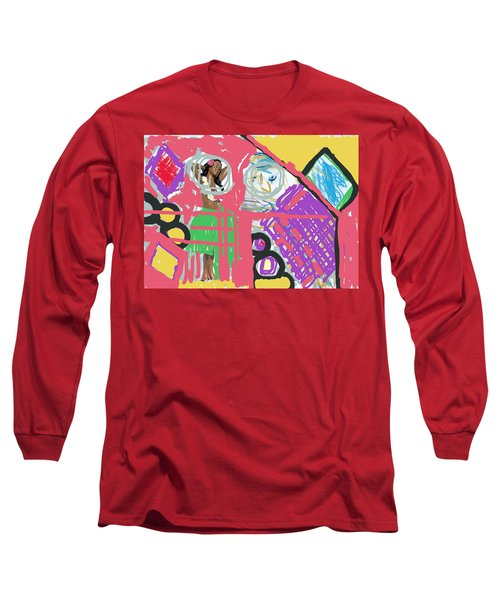 Hula Girl Under Paint Long Sleeve T-Shirt