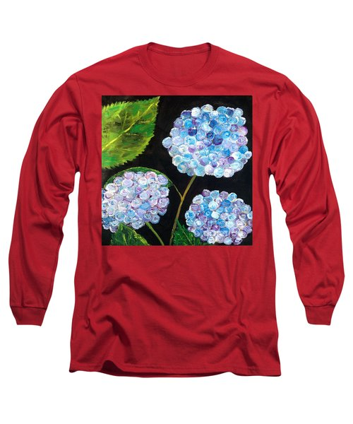 Hydrangeas  Long Sleeve T-Shirt by Reina Resto
