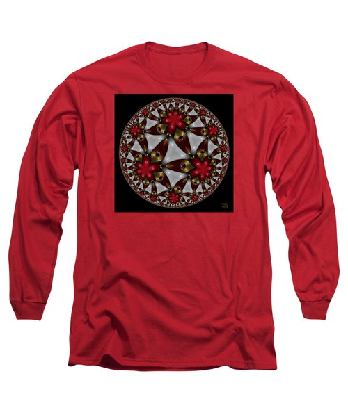 Hyper Jewel I - Hyperbolic Disk Long Sleeve T-Shirt