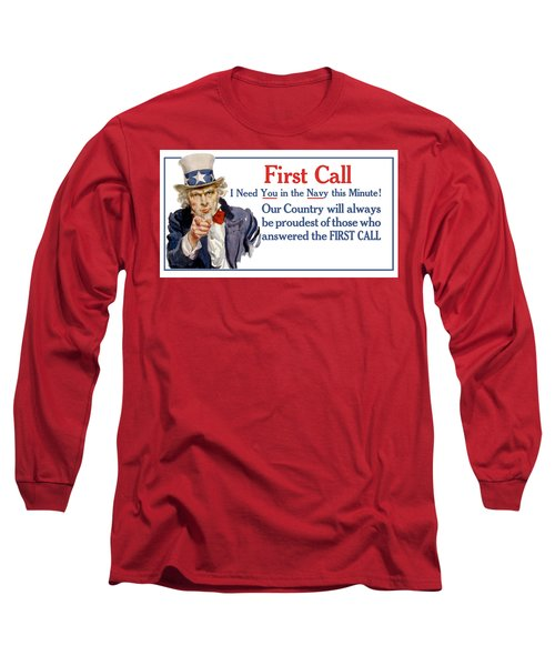 I Need You In The Navy - Uncle Sam Wwi Long Sleeve T-Shirt