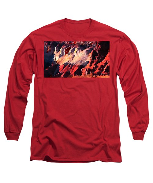 Impression Of Capitol Reef Utah At Sunset Long Sleeve T-Shirt