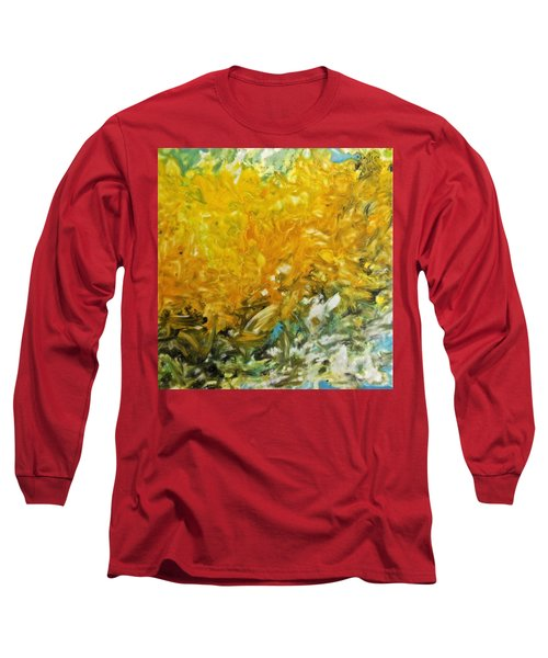 Long Sleeve T-Shirt featuring the painting In My Magic Garden by Joan Reese