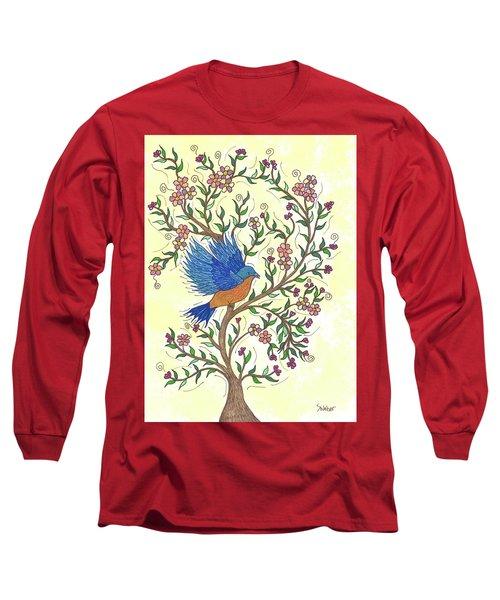 In The Garden - Bluebird Long Sleeve T-Shirt