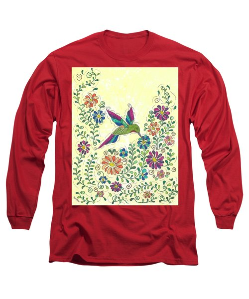 In The Garden - Hummer Long Sleeve T-Shirt