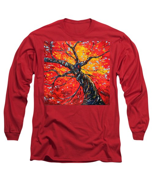 Long Sleeve T-Shirt featuring the painting In Your Light by Meaghan Troup
