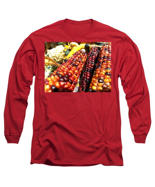 Long Sleeve T-Shirt featuring the photograph Indian Corn by Caryl J Bohn