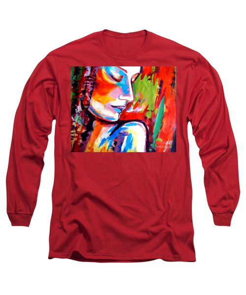 Long Sleeve T-Shirt featuring the painting Insight by Helena Wierzbicki