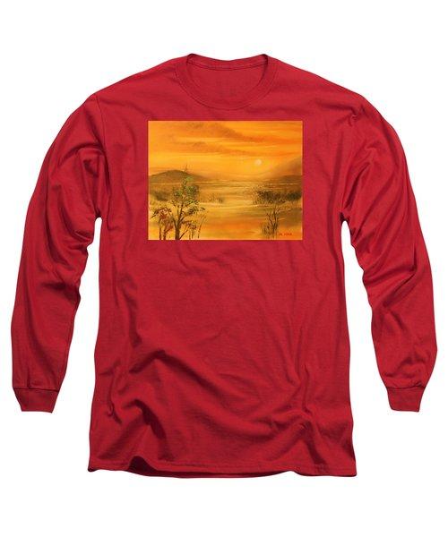 Intense Orange Long Sleeve T-Shirt by Remegio Onia