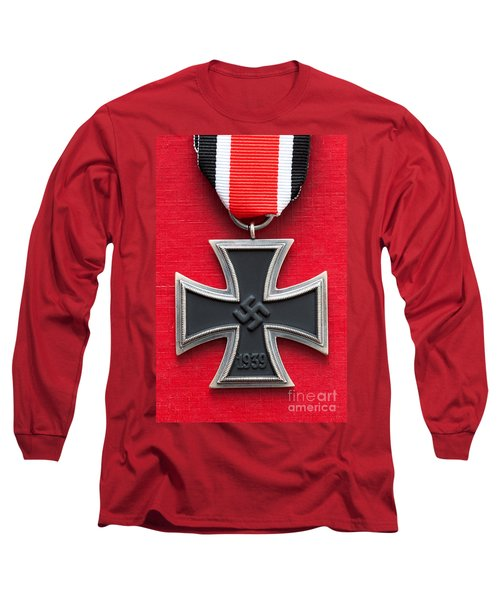 Iron Cross Medal Long Sleeve T-Shirt by Lee Avison