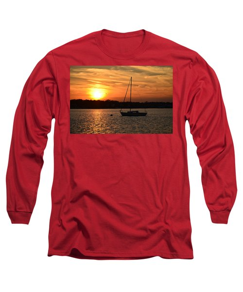 Long Sleeve T-Shirt featuring the photograph Island Heights Sunset by Brian Hughes