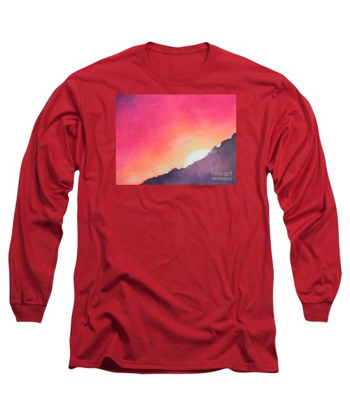 Long Sleeve T-Shirt featuring the painting It's Not About The Climb  Rather What Awaits You On The Other Side by Chrisann Ellis