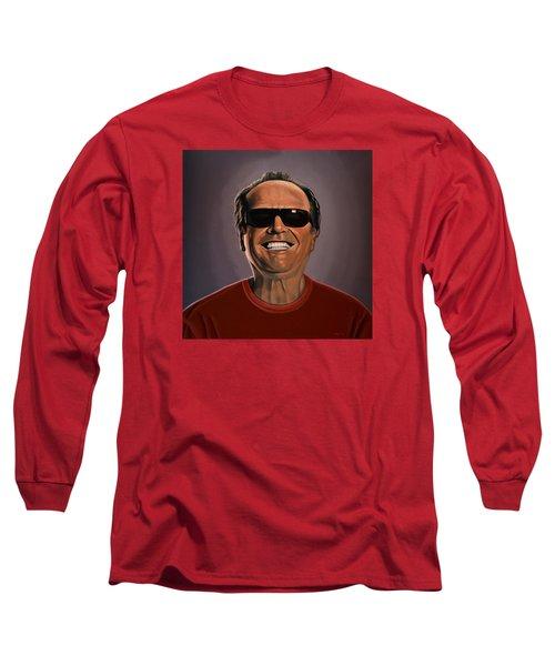 Jack Nicholson 2 Long Sleeve T-Shirt by Paul Meijering