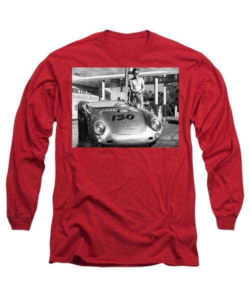 Last Picture Taken Of James Dean Long Sleeve T-Shirt
