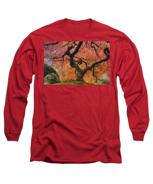 Japanese Maple Tree In Fall Long Sleeve T-Shirt