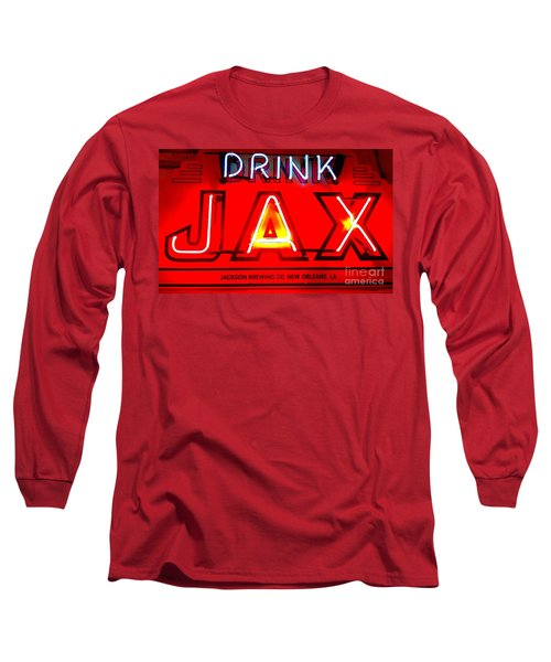 Jax Beer Of New Orleans Long Sleeve T-Shirt by Saundra Myles
