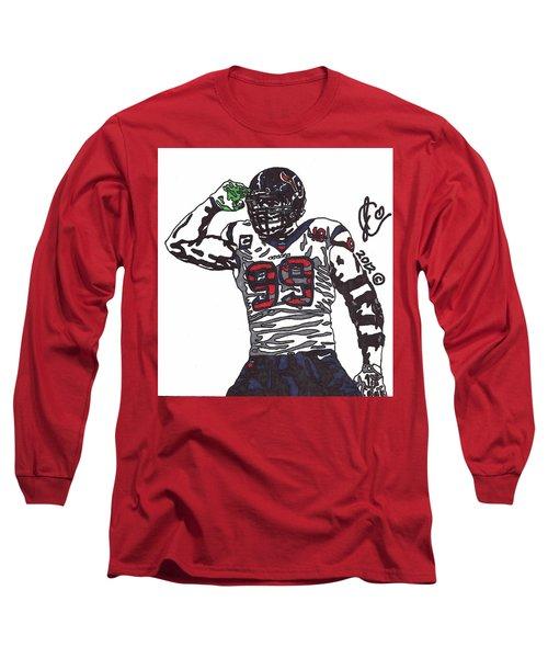 Jj Watt 1 Long Sleeve T-Shirt