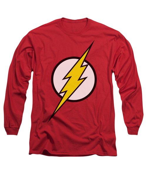Jla - Flash Logo Long Sleeve T-Shirt