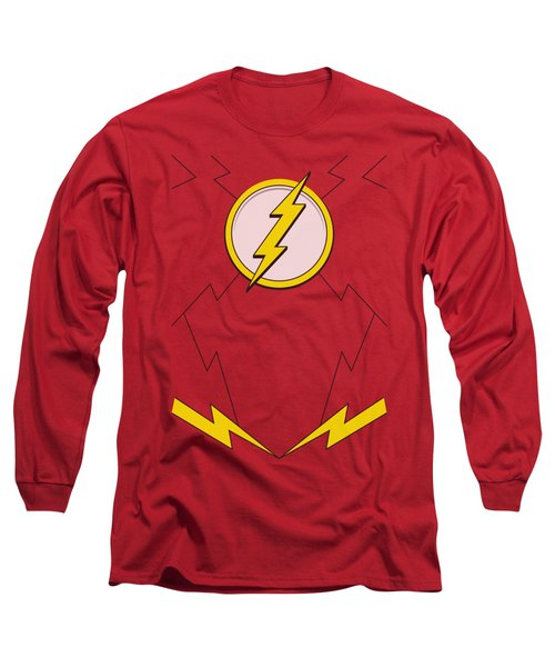 Jla - New Flash Costume Long Sleeve T-Shirt