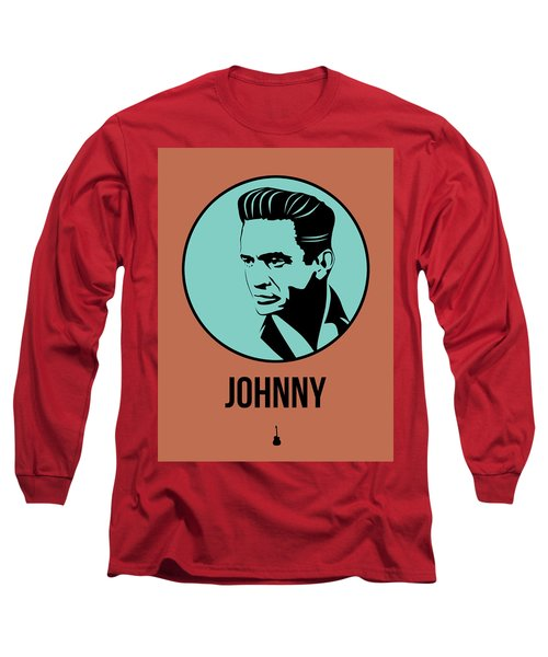 Johnny Poster 1 Long Sleeve T-Shirt by Naxart Studio
