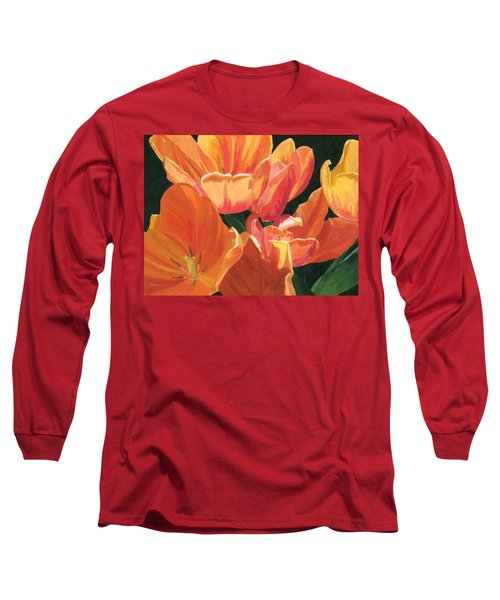 Julie's Tulips Long Sleeve T-Shirt by Lynne Reichhart