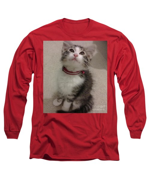Kitty - Forgotten Innocence Long Sleeve T-Shirt by Barbara Yearty