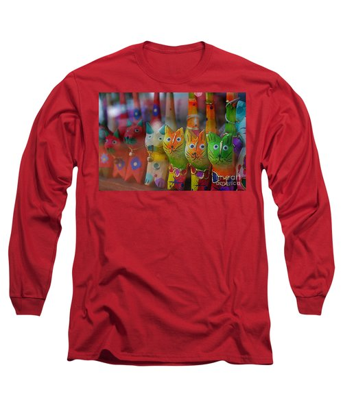 Long Sleeve T-Shirt featuring the photograph Kitty Kitty  by John S