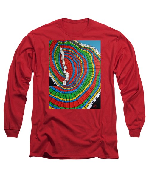 Long Sleeve T-Shirt featuring the painting La Falda Girando - The Spinning Skirt by Katherine Young-Beck