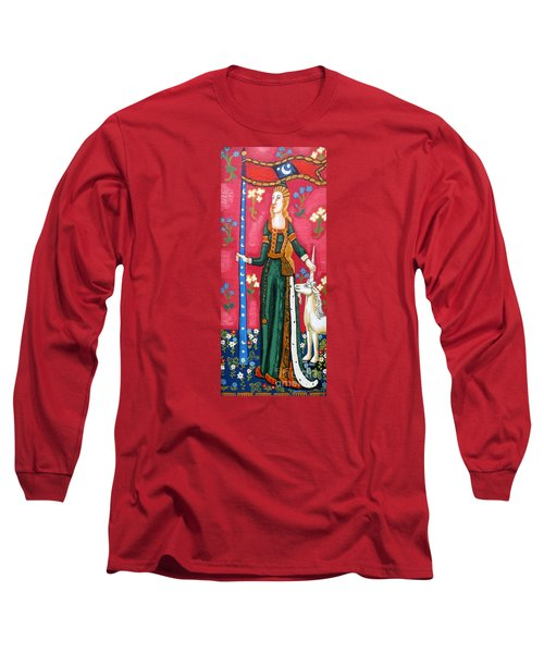Lady And The Unicorn La Pointe Long Sleeve T-Shirt by Genevieve Esson
