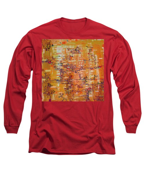 Lattice Animals Abstract Oil Painting By Regina Valluzzi Long Sleeve T-Shirt
