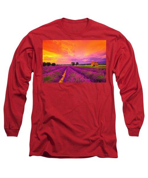Lavender Sunset Long Sleeve T-Shirt