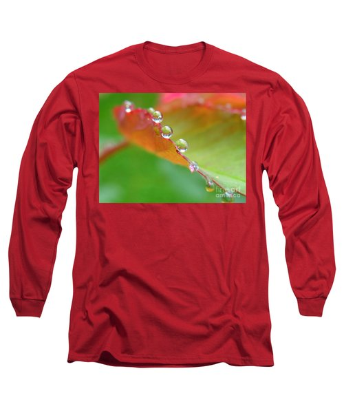 Leaf Pearls Long Sleeve T-Shirt by Patti Whitten