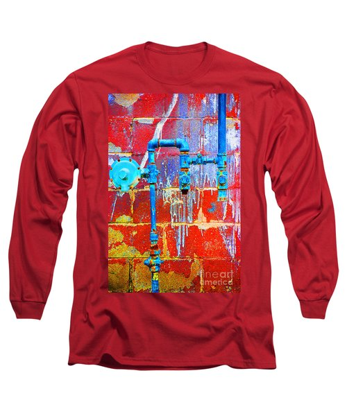 Long Sleeve T-Shirt featuring the photograph Leaky Faucet by Christiane Hellner-OBrien