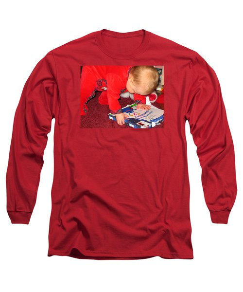 Learning To Read Long Sleeve T-Shirt by Connie Fox