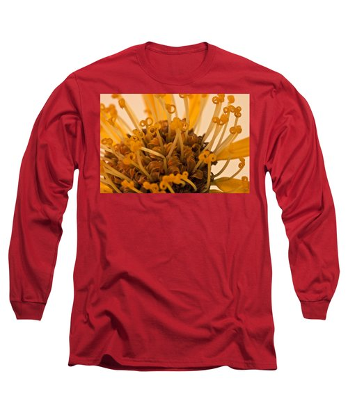Long Sleeve T-Shirt featuring the photograph Leopards Bane Flower Macro by Sandra Foster