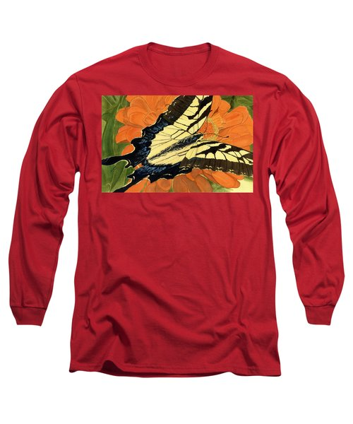 Long Sleeve T-Shirt featuring the painting Lepidoptery by Joel Deutsch
