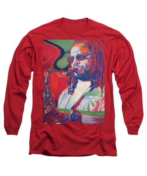 Leroi Moore Colorful Full Band Series Long Sleeve T-Shirt by Joshua Morton