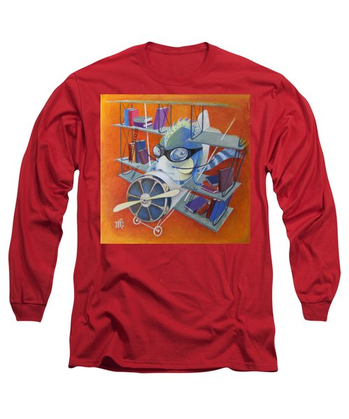 Librarian Pilot Long Sleeve T-Shirt by Marina Gnetetsky