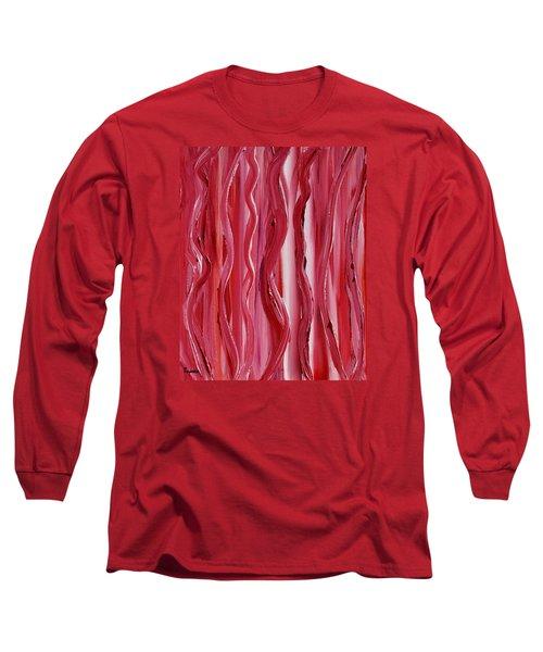 Licorice Long Sleeve T-Shirt by Donna  Manaraze