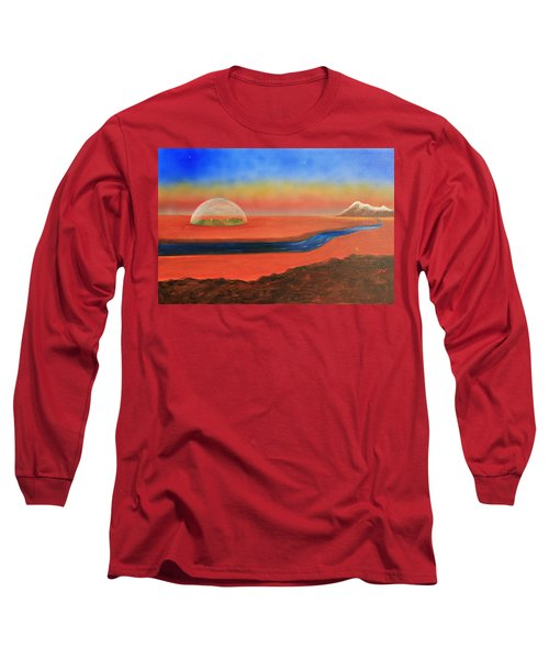 Life Will Find A Way Long Sleeve T-Shirt by Tim Mullaney