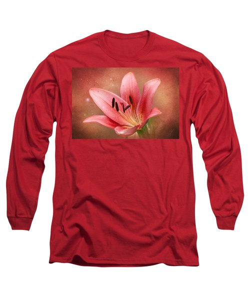 Long Sleeve T-Shirt featuring the photograph Lily by Ann Lauwers