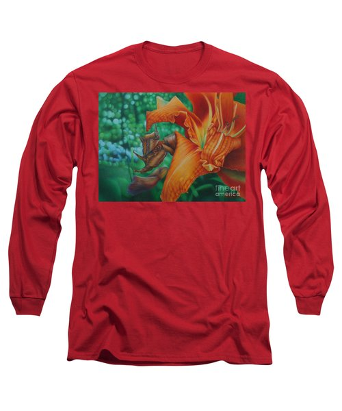 Lily's Evening Long Sleeve T-Shirt by Pamela Clements